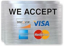 We accept credit cards for garage door repair and service.