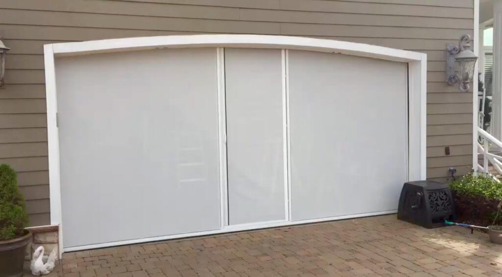 Single garage screen door bug one car single garage screen door bug mosquito insect net - Single car garage door screen ...
