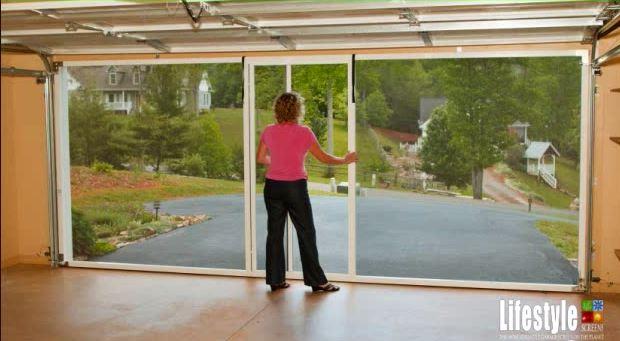 Inside View of Garage Door Screen