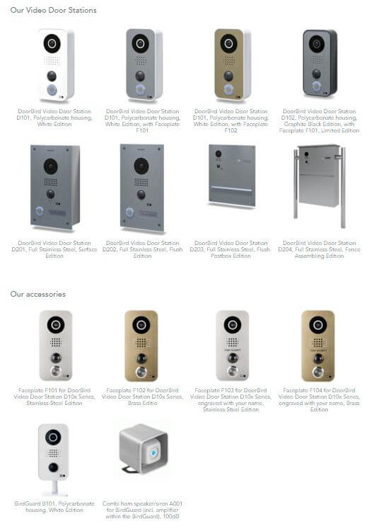 DoorBird Products
