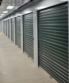 mini storage sheet door